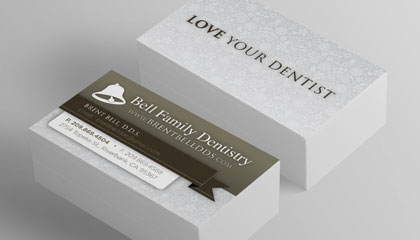 dental marketing business card