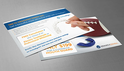 Dentist Hygiene Promotion Card