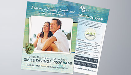 Dentist Smile Savings Flyer