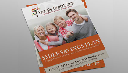 Dentist Smile Savings Program Flyer